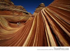 Wave Rock, Arizona, USA - only twenty people are allowed to walk on it's delicate surface per day