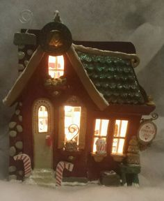 Kurt Adler Snowtown COUNTRY CAFE lighted house