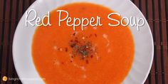 Red Pepper Soup Recipe | If you love red peppers, you will love this soup. This soup comes together very quickly and will definitely be a hit with red pepper lovers. What I like about this soup is that the ingredients are all fresh and you don't have to roast or use store-bought roasted peppers. You just pick up four red bell peppers from the produce section of your store. This recipe also calls for one small red chili pepper. If you like spicy food, be sure to get a hot pepper! You add in…