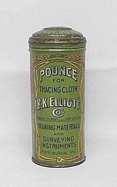 Pounce Powder for Tracing Cloth Tin
