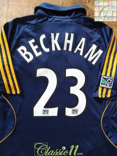 5dc22493685 Official Adidas LA Galaxy away football shirt from the 2007 08 season.  Complete with