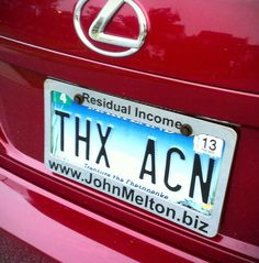 My license plate when I own my first 6 figure car! Promotion gift to myself in less than 2 years!