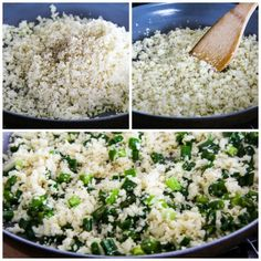 The Best Easy Cauliflower Rice with Garlic and Green Onion found on KalynsKitchen.com