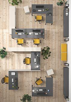 Corporate Interior Design, Interior Design Work, Office Furniture Design, Interior Office, Open Office Design, Open Space Office, Office Layout Plan, Office Space Planning, Office Ideas For Work