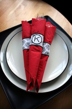 EDITABLE Damask Printable Paper Napkin Rings Electronic Delivery on Etsy, $3.00