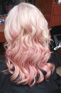 Ash blonde with pastel pink highlights    from panecsa.com