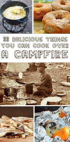33 recettes qui peuvent être cuisinées au feu de camp. Parfait pour le glamping!
