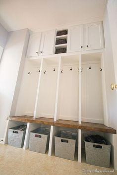 how to build mudroom lockers Lockers, Mudroom, Home, Understairs Storage, Cupboard Storage, Locker Storage, Room Remodeling, Laundry Room Remodel, Mudroom Lockers