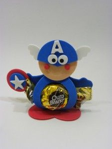 Moldes para Todo: Porta bombón Capitán América