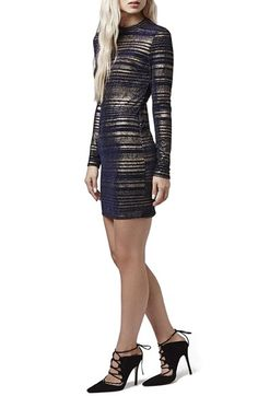 Topshop Metallic Body-Con Dress available at #Nordstrom