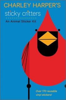 AW-Charley Harper's Sticky Critters: An Animal Sticker Kit-Sticky Critters has received the Oppenheim Toy Portfolio's 2012 Gold Seal Award, given to outstanding new products that enhance the lives of children.  You'll love putting together the stickers in this kit to make a fish, a koala, a bunny, and more! With Charley Harper's Sticky Critters: An Animal Sticker Kit, you'll learn how to make 12 bright, funny creatures.