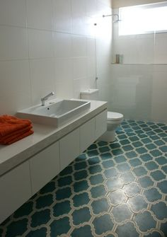 ARTICLE + GALLERY:21 Bold Patterned Tile Floors With PUNCH  kitchen floor?