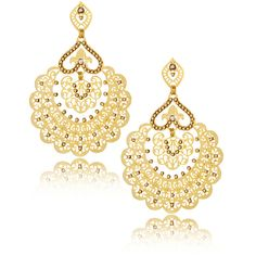 LK DESIGNS Citrine Gold Shadow Earrings (140 CAD) ❤ liked on Polyvore featuring jewelry, earrings, accessories, round earrings, gold earrings, filigree earrings, gold jewelry and post earrings