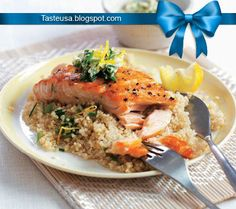 salmon fillets with sage and quinoa recipe
