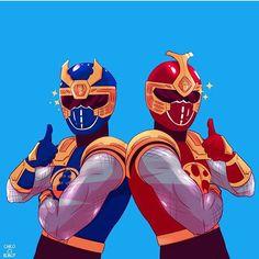 Power Rangers thunder rangers Blake y hunter Power Rangers Comic, Power Rangers Ninja Storm, Power Rangers Megazord, Go Go Power Rangers, Mighty Morphin Power Rangers, Kamen Rider, Marvel, Gi Joe, Character Art