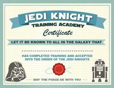 Star wars certificado                                                                                                                                                                                 Más