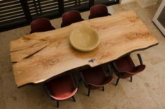 raw wood table top from... some awesome company which I NEED TO KNOW