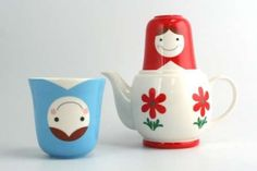 The Matryoshka Teapot Adds Cute Character to Any Tableware Set #tea #teaaccessories