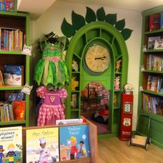 Our magical door of out Reading cave in kidsnook bookstore