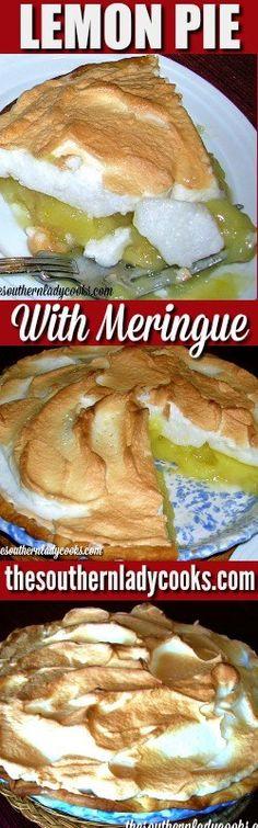 LEMON MERINGUE PIE - The Southern Lady Cooks