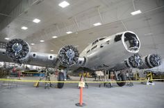 "The REAL ""Memphis Belle"" B-17 being restored."