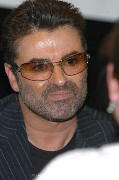 George Michael during George Michael Signs Copies of his new CD 'Patience' at Virgin Megastore - Times Square in New York City