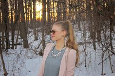 Sweets and Style Just Right: winter blush pink