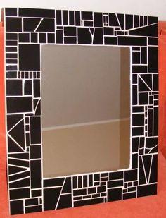 O Blue Mosaic, Mosaic Diy, Mosaic Crafts, Mosaic Tiles, Mosaic Designs, Mosaic Patterns, Mirror Mosaic, Mosaic Glass, Vitromosaico Ideas