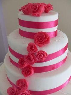 wedding cake fuxia