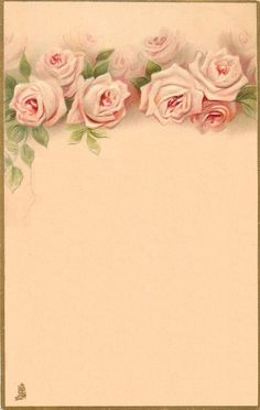 Vintage Roses Background Paper