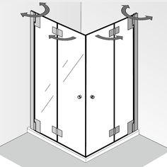HSK Duschkabine Serie: K2P Modell: Eckeinstieg mit Drehfalttür HSK K2P Drehfalttür Eckeinstieg Duschkabine. Die Drehfalttür dieser Duschabtrennung lässt sich nach innen und außen schwenken, wobei sich die Türelemente komplett an die...