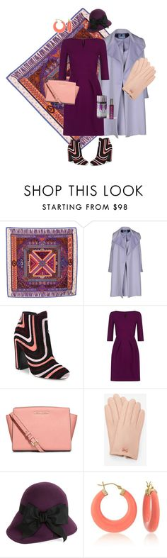"""""""freesia"""" by tenuanet ❤ liked on Polyvore featuring Hermès, Blumarine, Salvatore Ferragamo, Roland Mouret, MICHAEL Michael Kors, Ted Baker, Kathy Jeanne, Ross-Simons and Hale Bob"""