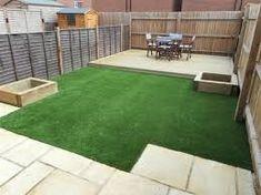 garden ideas with decking grass and paving Back Garden Design, Backyard Garden Design, Backyard Landscaping, Natural Landscaping, Landscaping Ideas, Backyard Ideas, Small Back Gardens, Home Vegetable Garden, Landscape Design