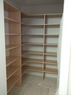 Wrapped Corner Shelving Closet System