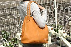 ショルダーにもなるトートバッグ・ビッグ(E-15)の手作り革鞄・ハンドメイドレザー「HERZ(ヘルツ)公式通販」