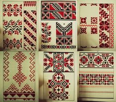 Traditional Romanian and Moldavian Ornament by on DeviantArt Embroidery Motifs, Embroidery Designs, Palestinian Embroidery, Arrow Tattoos, Tatoos, Hexagon Pattern, Traditional Tattoo, Flower Art, Draco