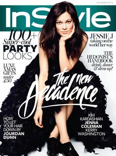 Jessie J looks gorgeous in a cover story for the December issue of British InStyle magazine, lensed by Micaela Rossato and styled by Arabella Greenhill.