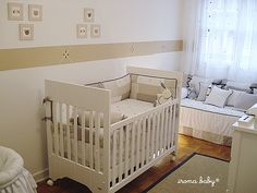So sweet. Could add coloured accents to coincide with whether it's a girl or a boy, and re-use the rest.