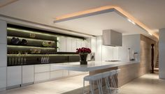 5 Creative Ideas Can Change Your Life: False Ceiling With Fan false ceiling home bedrooms.False Ceiling Dining Chandeliers l shaped false ceiling design. Bulkhead Ceiling, Kitchen Ceiling Lights, Kitchen Lighting, Ceiling Lighting, Ceiling Ideas, Rope Lighting, Interior Lighting, Cheap Kitchen Remodel, Galley Kitchen Remodel