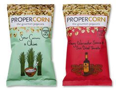 Propercorn packaging illustrated by Zoe More O'Ferrall