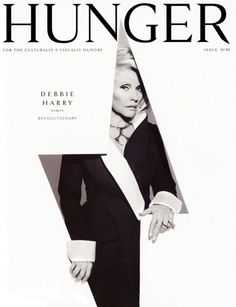 Hunger magazine, issue 05 // Debbie Harry on cover Web Design, Book Design, Print Design, Magazine Front Cover, Magazine Cover Design, Editorial Layout, Editorial Design, Layout Inspiration, Graphic Design Inspiration
