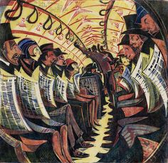 Cyril E. Power (English, 1872–1951), The Tube Train, about 1934, Color linocut, The Metropolitan Museum of Art, Partial and Promised Gift of...