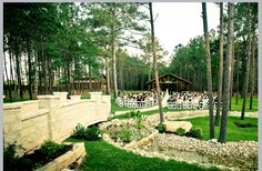 Gorgeous outdoor wedding venue in Magnolia, TX:  THE SPRINGS in The Woodlands, North Hall.  The views for your wedding can't get much more breathtaking than this!  Book your free tour with us today!  Photo by Pedigo Photography