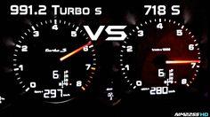 991.2 Turbo S vs. 718 Boxter S (Acceleration) #Porsche #porsche911 #porschelife #cayenne #cars #car