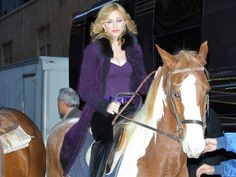 On October 20 2005, Madonna was dared by David Letterman to get back on a horse – the first time since her fall in August.   h…