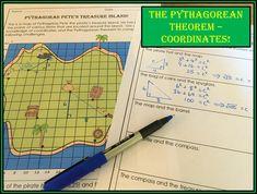 Math Resources, Math Activities, Pythagorean Theorem Problems, Secondary Math, Maths Puzzles, Treasure Island, Math Teacher, Upper Elementary, Fun Ideas