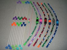 Archery Party 8 Bows & Arrows for Kids Large sets by PlaySafeToys