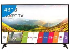 """Smart TV LED 43"""" LG 43LJ5550 webOS - Conversor Digital 1 USB 2 HDMI com as melhores condições você encontra no Magazine Tatahpereira. Confira!"""