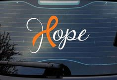 Hope Awareness Ribbon Decal Customizable! on RebeccaLaneGraphics on Etsy!