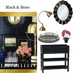 Black and Brass Bar